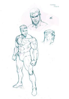 Bocetos de SupermanBeyond por Iban Coello
