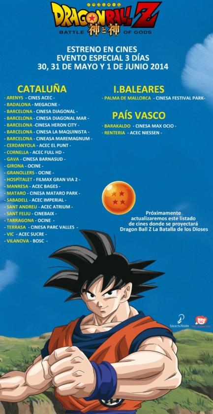 Dragon Ball Z Batalla de los dioses estreno en cines-fixed