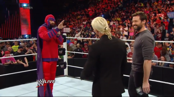 Hugh Jackman en WWE RAW