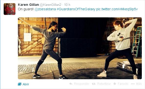 Karen Gillian tweet GOTG
