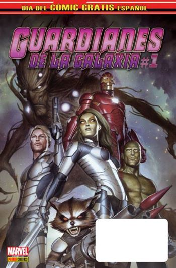 Portada guardianes de la galaxia día del cómic gratis