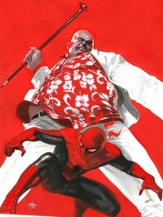 Spiderman y Kingpin