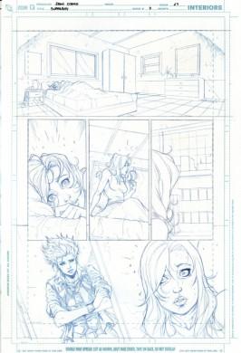 Lápices de Iban Coello para Superboy