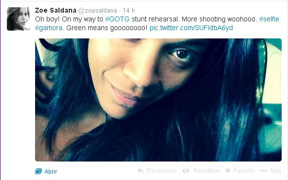 Zoe Saldaña tweet GOTG
