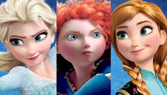 frozen brave protagonistas