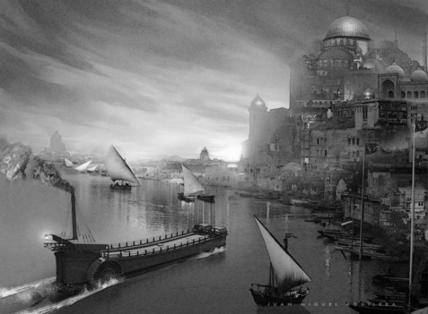 La nave de metal en Basora
