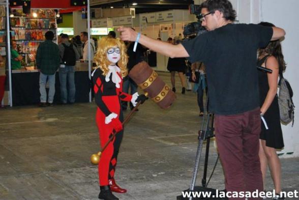 Cosplayers Harley Quinn Salón del Cómic de Barcelona