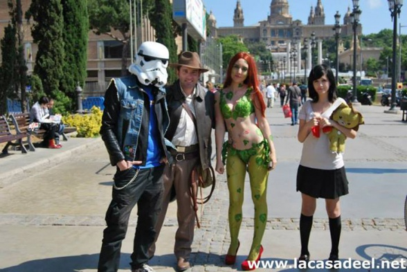 Cosplayers Soldado imperial Indiana Jones Hiedra Venenosa Salón del Cómic de Barcelona