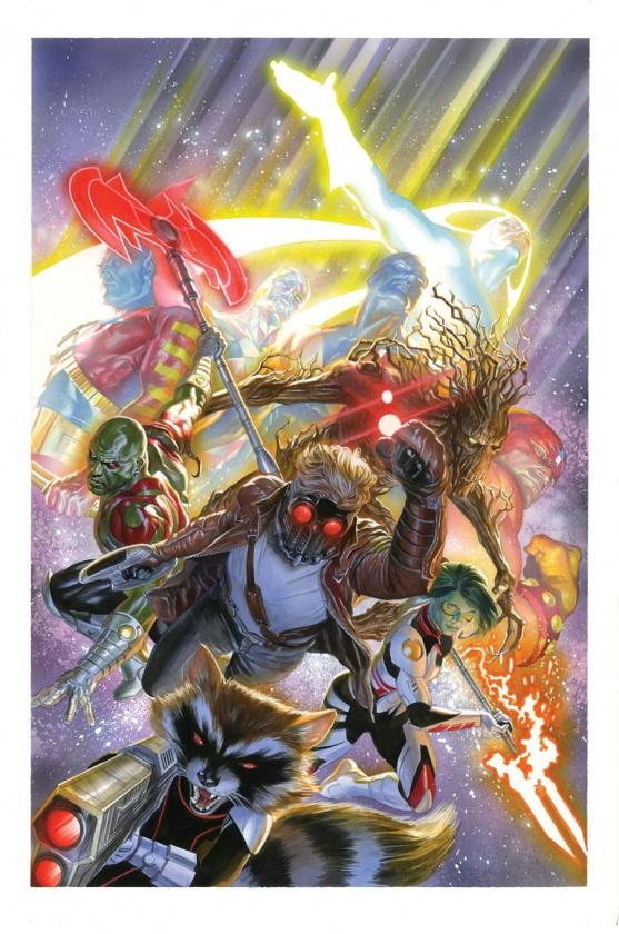 Portada alternativa Guardianes de la Galaxia #18 Alex Ross
