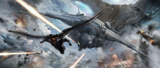 capitán américa 2 - falcon conceptual