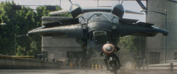 capitán américa 2 - quinjet y moto