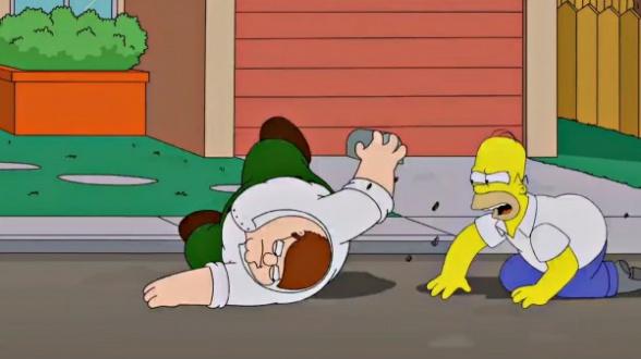 Homer y Peter