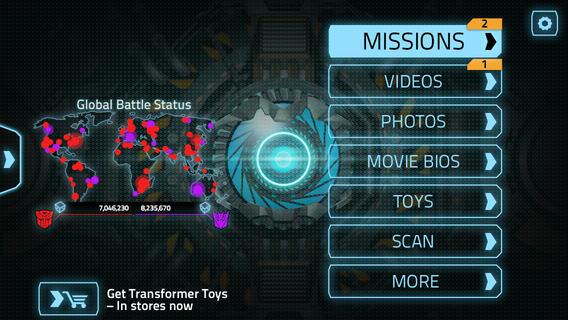 imagen menú transformers