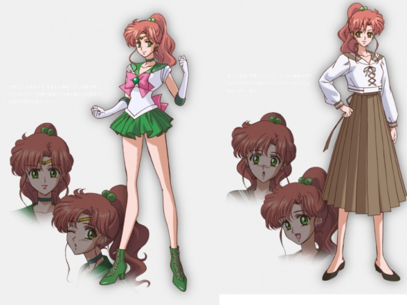 Diseño de personajes del nuevo anime basado en el popular manga shoujo de Naoko Takeuchi y titulado Pretty Guardian Sailor Moon Crystal: Usagi Tsukino (Sailor Luna), Ami Mizuno (Marinera Mercurio), Rei Hino (Marinera Marte), Makoto Kino (Marinera Júpiter) y Minako Aino (Marinera Venus).