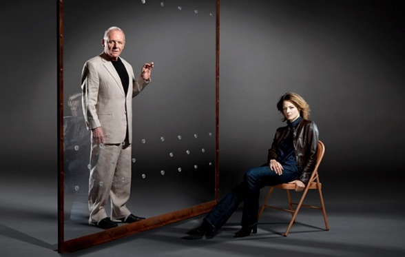 Anthony Hopkins and Jodie Foster Silence of the Lambs