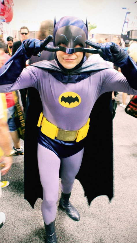 Batman Cosplayer blue
