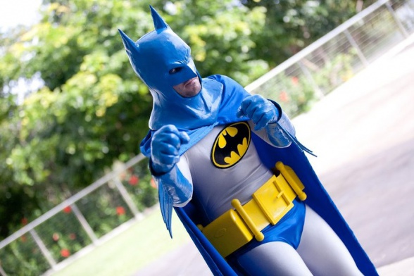 Batman cosplay retro