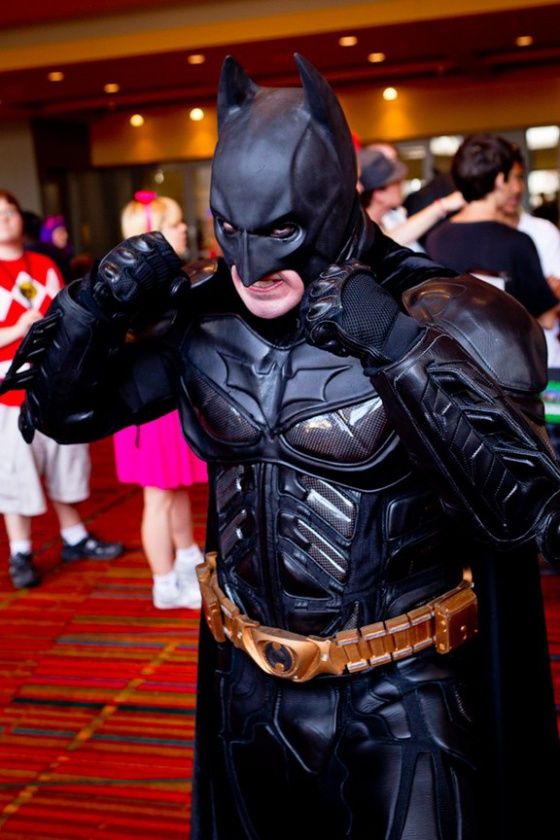 Batman cosplayer rage