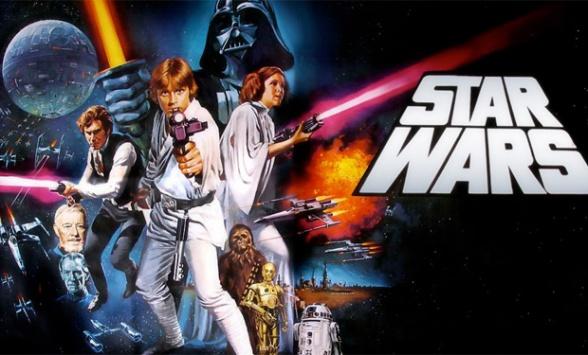 logo antiguo star wars