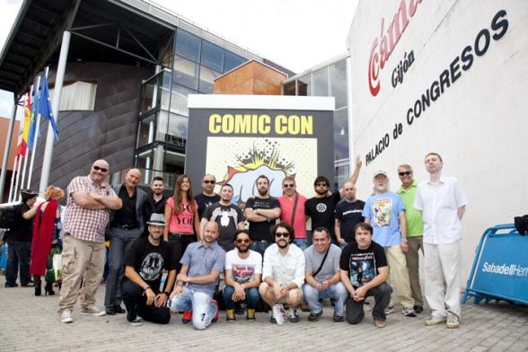 Autores y organizadores en Metrópoli Comic Con