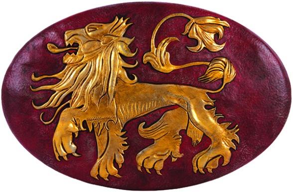 Escudo pared Lannister san diego comic con 2014