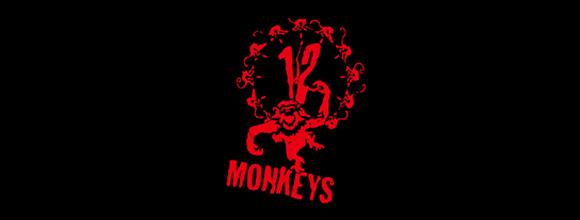 Logo 12 monos negro