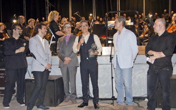 Marco Beltrami recibiendo el I Premio Elmer Bernstein el año pasado