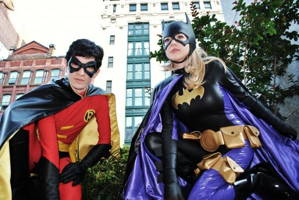 Cosplay Robin y Batgirl