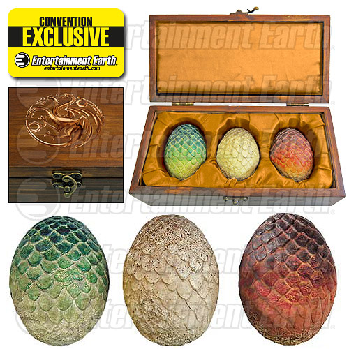huevos replica juego de tronos targaryen entertainment earth