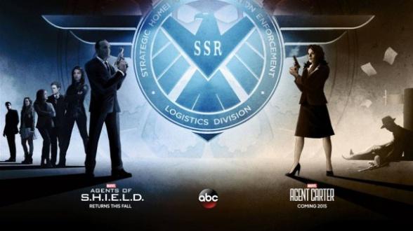 póster agentes de shield y agente carter comic con 2014