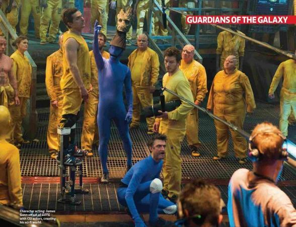 Imágenes tras las cámaras de 'Guardianes de la Galaxia'
