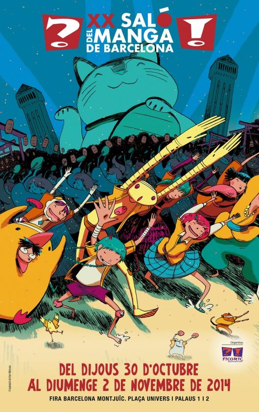 Cartel de Ken Niimura para el XX Salón del Manga de Barcelona