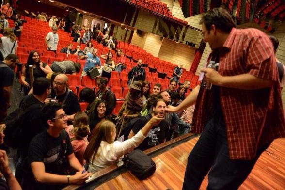 Tras la charla, foto de la organización