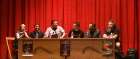 Patrick Rothfuss, Joe Abercrombie y Brandon Sanderson en Celsius 232