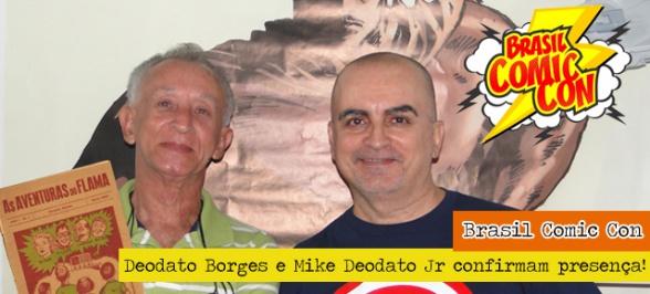 Deodato Jr. con su padre, Deodato Borges, a la izquierda