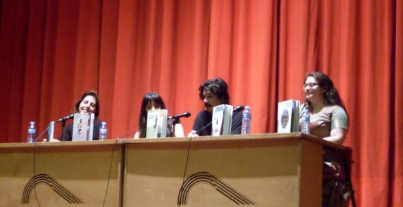 Laura Fernándes, Sara Herculano, Cisco Bellabestia y Sofía Rhei