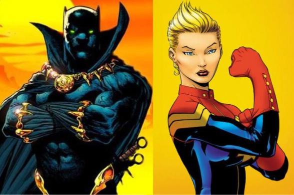 Pantera Negra-Capitana Marvel