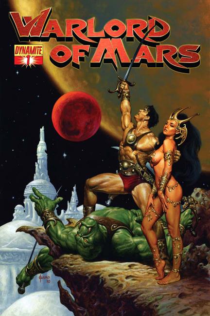 Portada de la anterior colección de Warlord of Mars por Jusko