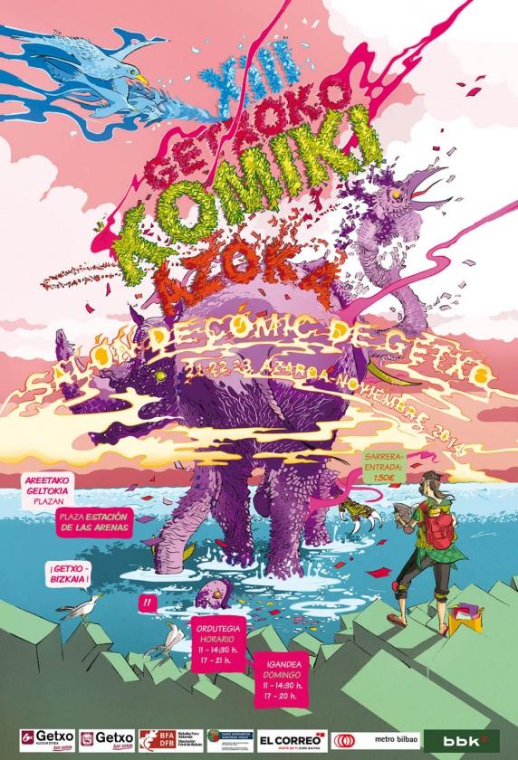 Cartel del Salón del Cómic de Getxo 2014