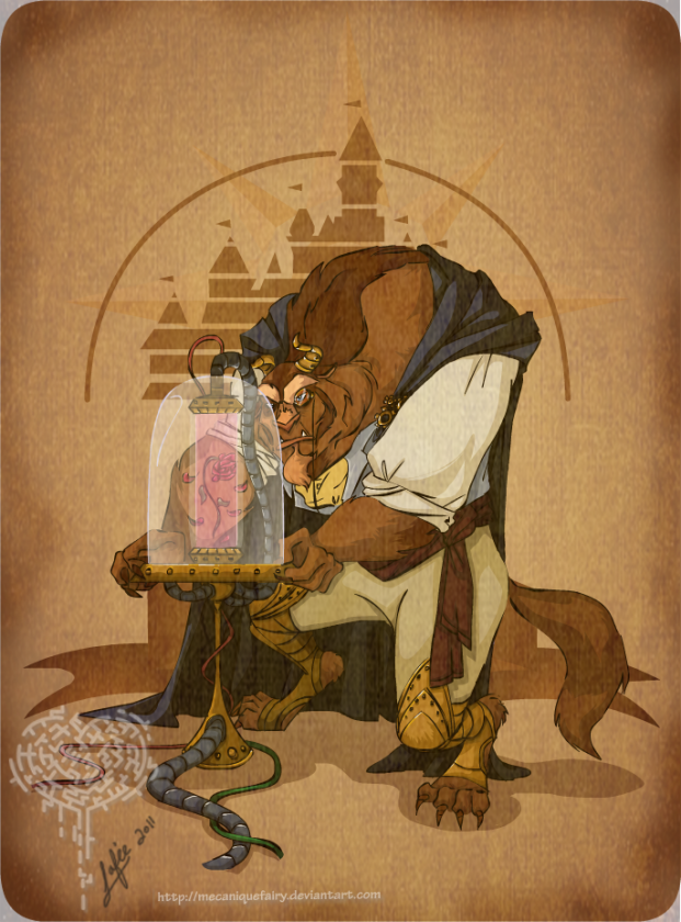 disney steampunk  beast by mecaniquefairy d3iqg78