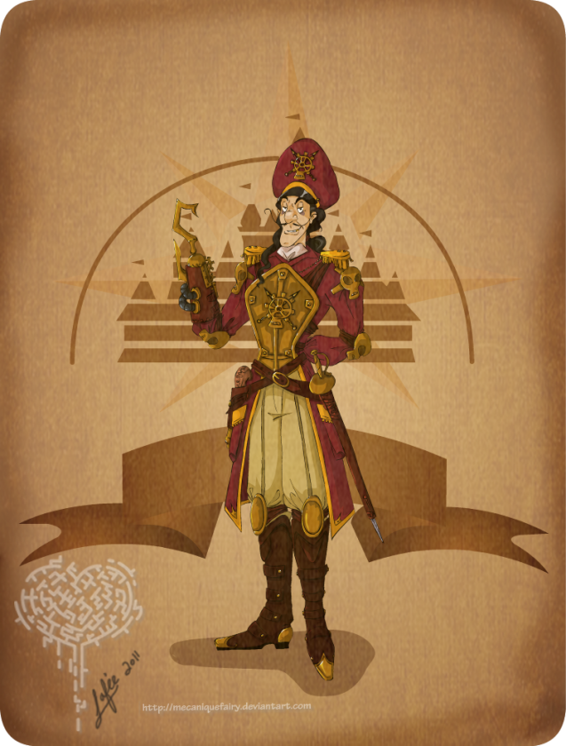 disney steampunk captain hook by mecaniquefairy d46apap