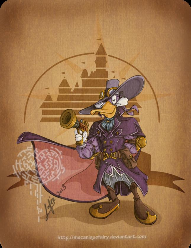 disney steampunk darkwing duck by mecaniquefairy d66lqoj