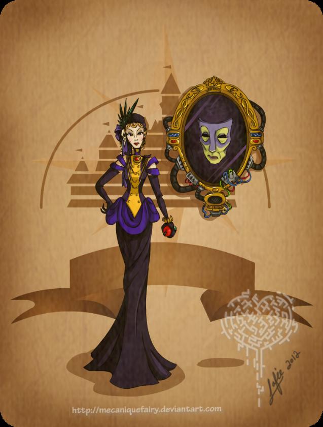 disney steampunk evil queen by mecaniquefairy d4t7ia6