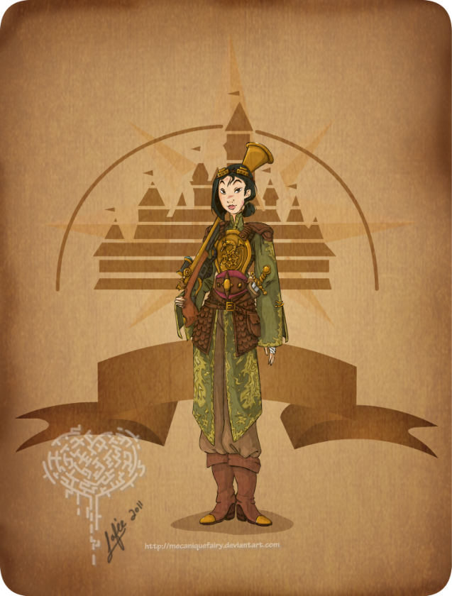disney steampunk  mulan by mecaniquefairy d4begsf