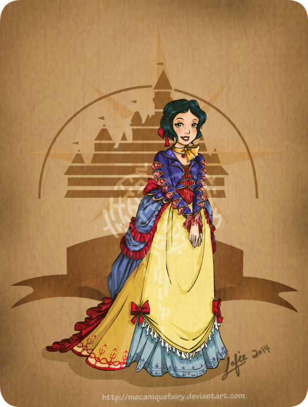disney steampunk  snow white by mecaniquefairy d7961ty
