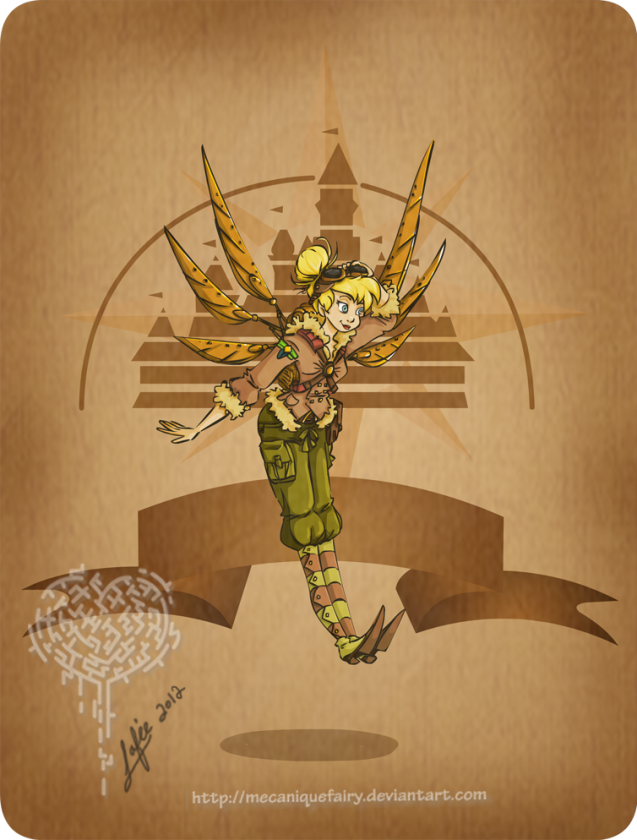 disney steampunk  tinker bell by mecaniquefairy d4wmabt