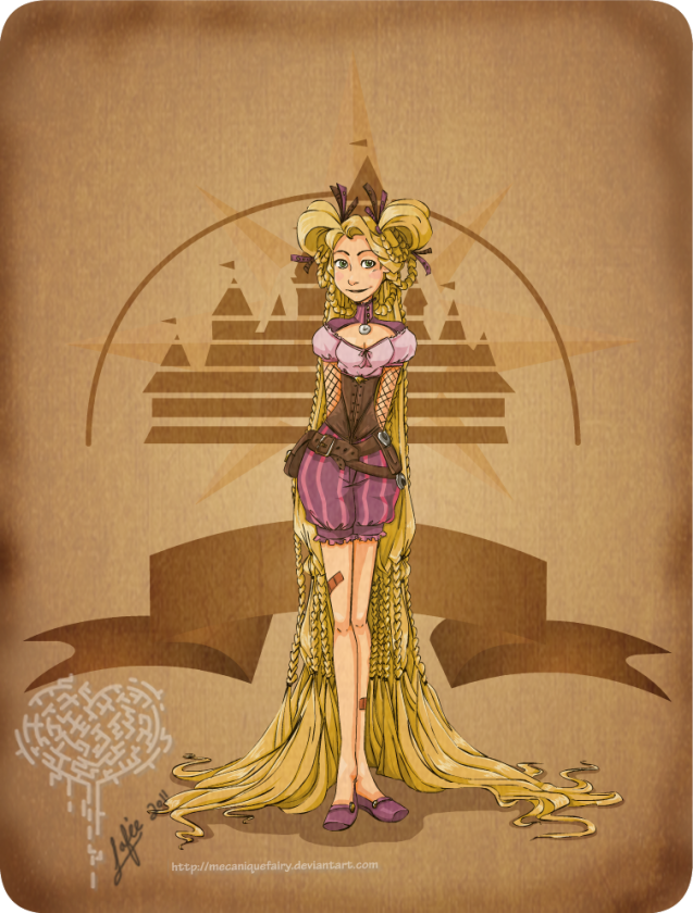 disney steampunk rapunzel by mecaniquefairy d425jhm