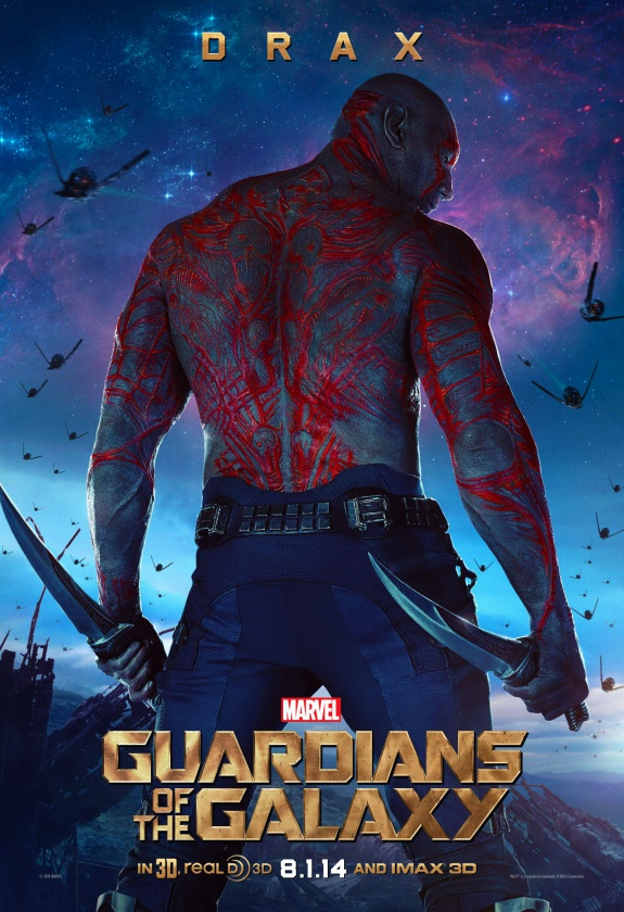 guardians of the galaxy drax poster hd
