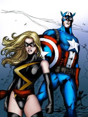 Ms. Marvel junto a Capitán América