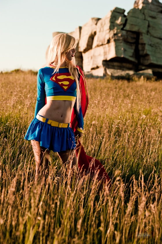 supergirl cosplay shut up and duel me c